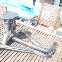 45 Weber Doppelvergaser mit Fächerkrümmer
